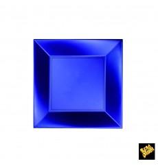 Plato de Plastico Llano Azul Nice Pearl PP 180mm (25 Uds)
