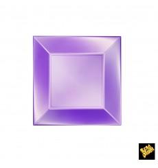 Plato de Plastico Llano Violeta Nice Pearl PP 180mm (25 Uds)