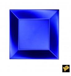 Plato de Plastico Llano Azul Nice Pearl PP 230mm(25 Uds)