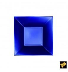 Plato de Plastico Hondo Azul Nice Pearl PP 180mm (25 Uds)