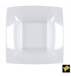 Plato de Plastico Hondo Transp. Nice PS 180mm (25 Uds)