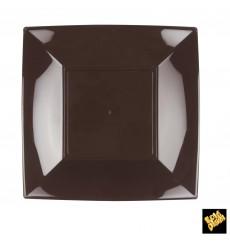 Plato de Plastico Llano Marron Nice PP 230mm (25 Uds)