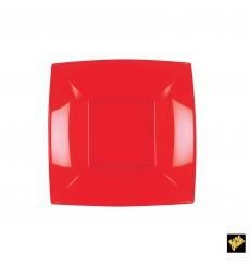 Plato de Plastico Hondo Rojo Nice PP 180mm (25 Uds)