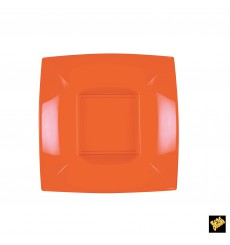 Plato de Plastico Hondo Naranja Nice PP 180mm (25 Uds)