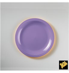 Plato de Plastico Llano Lila Round PP Ø185mm (50 Uds)