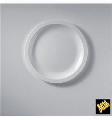 Plato de Plastico Llano Blanco Round PP Ø185mm (50 Uds)