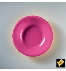 Plato de Plastico Hondo Fucsia Round PP Ø195mm (50 Uds)