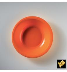 Plato de Plastico Hondo Naranja Ø195mm (50 Uds)