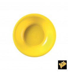 Plato de Plastico Hondo Amarillo Round PP Ø195mm (600 Uds)