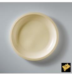Plato de Plastico Llano Crema Round PP Ø220mm (50 Uds)