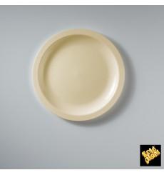 Plato de Plastico Llano Crema Round PPØ185mm (50 Uds)