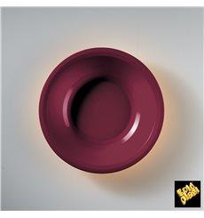 Plato de Plastico Hondo Burdeos Round PP Ø195mm (50 Uds)