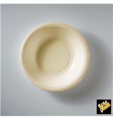 Plato de Plastico Hondo Crema Round PP Ø195mm (50 Uds)