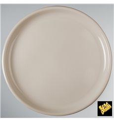 Plato de Plastico para Pizza Beige Round PP Ø350mm (144 Uds)