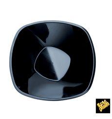 "Bol de Plástico PP ""Square"" Negro 1250ml Ø21cm (60 Uds)"