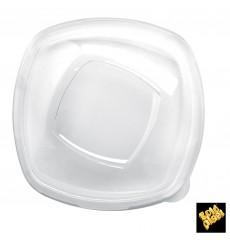 """Tapa de Plástico PET Cristal """"Square"""" Ø21cm (60 Uds)"""