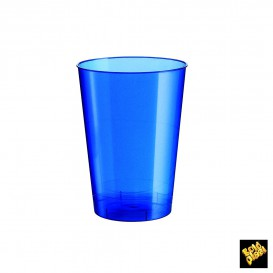 Vaso de Plastico Moon Azul Pearl PS 230ml (50 Uds)