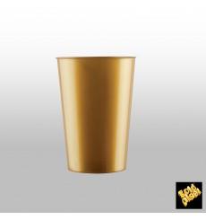 Vaso de Pastico Oro PS 200ml (50 Uds)