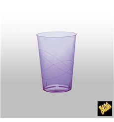 Vaso de Plastico Moon Lila Transp. PS 230ml (50 Uds)