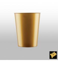 Vaso de Plastico Moon Oro PS 320ml (20 Uds)