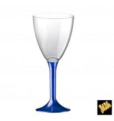 Copa Plastico Vino Pie Azul Perlado 180ml 2P (20 Uds)