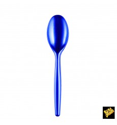 Cuchara de Plastico Easy PS Azul Perlado 185 mm (20 Uds)