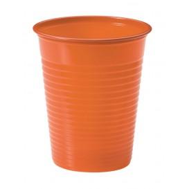 Vaso de Plastico PS Naranja 200ml Ø7cm (50 Uds)