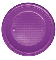 Plato de Plastico Hondo Violeta PS 220 mm (30 Uds)