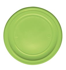 Plato de Plastico Llano Verde PS 220 mm (30 Uds)