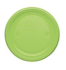 Plato de Plastico Llano Verde PS 170mm (50 Uds)