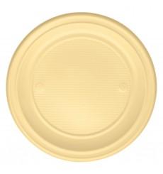 Plato de Plastico Llano Crema PS 220 mm (30 Uds)