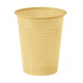 Vaso de Plastico PS Crema 200ml Ø7cm(50 Uds)