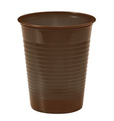 Vaso de Plastico Marrón PS 200ml (50 Uds)