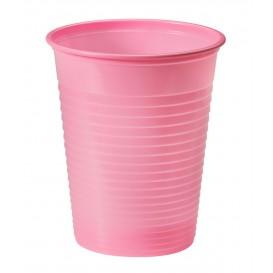 Vaso de Plastico PS Rosa 200ml Ø7cm (50 Uds)
