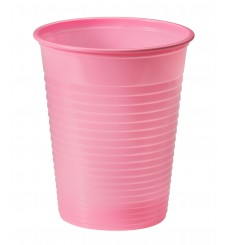 Vaso de Plastico Rosa PS 200ml (50 Uds)