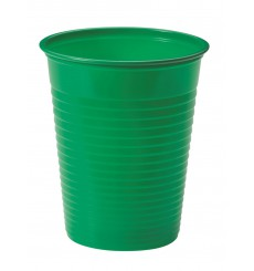 Vaso de Plastico Verde PS 200ml (50 Uds)