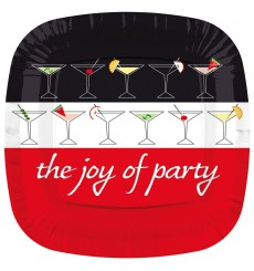 Plato de Carton Cuadrado '' Joy of Party'' 230mm  (200 Uds)