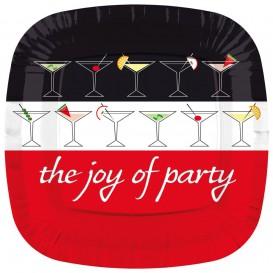 """Plato de Carton Cuadrado """"Joy of Party"""" 170mm (8 Uds)"""