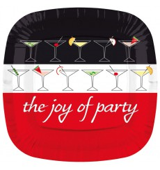Plato de Carton Cuadrado '' Joy of Party'' 170mm  (200 Uds)