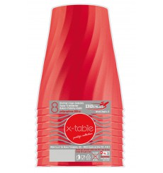 "Vaso de Plastico ""X-Table"" Rojo PP 320ml (8 Uds)"