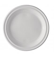 Plato de Plastico Llano Blanco 205 mm (25 Uds)