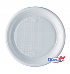 Plato de Plastico PS Llano Blanco 170 mm (100 Uds)