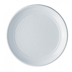 Plato de Plastico PS Llano Blanco 250 mm (100 Uds)