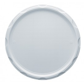 Plato de Plastico PS para Pizza Blanco 320 mm (100 Uds)