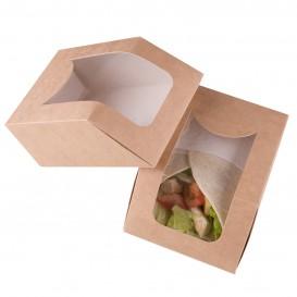 Caja de Carton Kraft con Ventana 90x51x120mm (25 Uds)