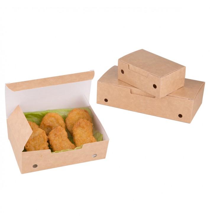 Caja Comida para Llevar Pequeña Kraft 115x72x43mm (25 Uds)
