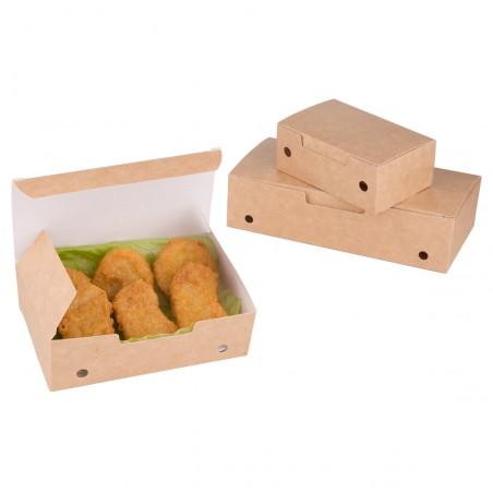 Caja Comida para Llevar Mediana Kraft 145x90x45mm (25 Uds)