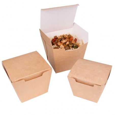 Caja de Comida para Llevar Wok Kraft 450ml (25 Uds)