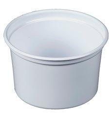 """Envase de Plastico PP """"Deli"""" Blanco 16Oz/473ml Ø94mm (25 Unidades)"""