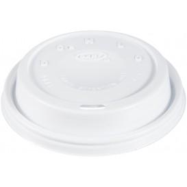 "Tapa de Plastico PS ""Cappuccino"" Blanca 24Oz/710 ml (100 Uds)"